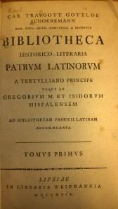Bibliotheca Historico- Literaria